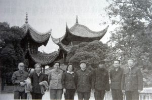 During the operation period of 691, members of the main editorial board of the radio station took a group photo with the Chinese cadres. From left: Zhou Li (Jinzhi Mang), Zhuang Sheng (Chen Tien), Director Su (Head of Hunan Province Foreign Affairs Department), Ah Yan (MCP Leader), Hunan Foreign Affairs Department's cadre, P.V. Sarma, Suding, Hunan Foreign Affairs Department's cadre (Image taken from A Tough Journey Ahead) - New Naratif