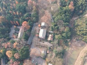 Aerial photography of the 691 base today. The courtyard on the left is the residence of Chin Peng (photograph by Zhao Siyi) - New Naratif