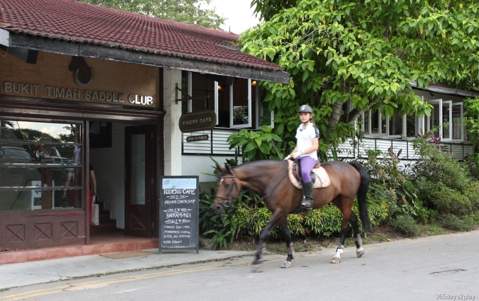Entrance to Riders Café, shared with the entrance to Bukit Timah Saddle Club - New Naratif